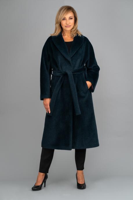 Ciemnozielony ekskluzywny płaszcz z suri alpaki Dolores