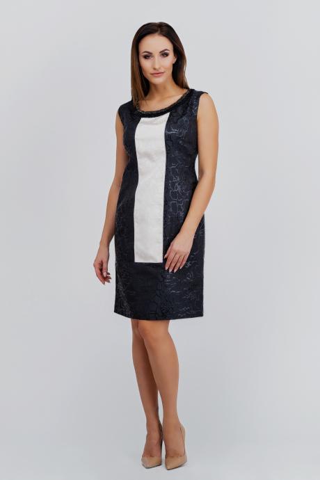 c7f0477d95 Czarna żakardowa sukienka Torena