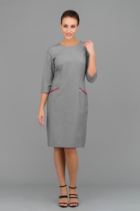 b35a388f74 Sukienka w czarno - białą pepitkę
